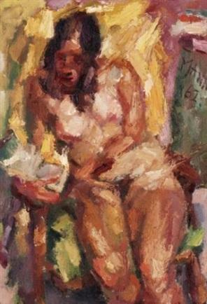 Mann, cyril-mann-seated-nude-reading.jpg