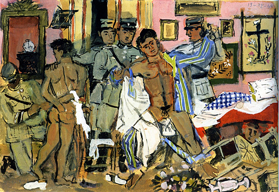 el arresto de tres comunistas, 1944.jpg