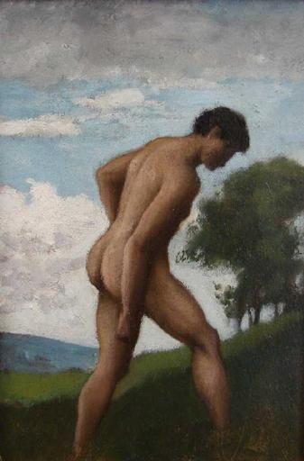 Hombre desnudo - Henner